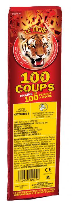 CHAINE DE 100 PETARDS A...