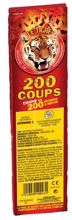CHAINE DE 200 PETARDS A...