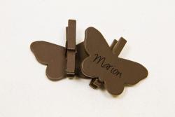 PAPILLONS 3 X 4CM SUR PINCE...
