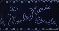 RUBAN TULLE VIVE MARIES...