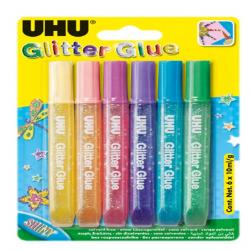 GLITTER GLUE SHINY UHU 6 X...