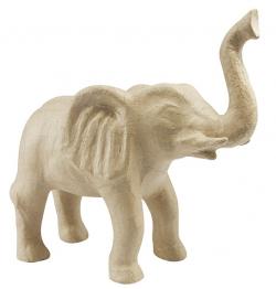 ELEPHANT EN PAPIER MACHE H28CM