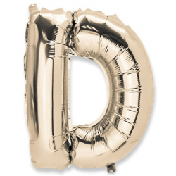 BALLON METAL OR 36CM LETTRE...