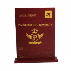 CENTRE DE TABLE PASSEPORT...