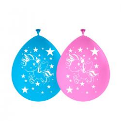 BALLON LICORNE /8 rose et bleu