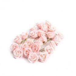 ROSES EN MOUSSE ROSE 4cm...