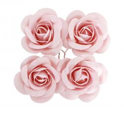 SACHET 4 ROSES ROSE PASTEL...
