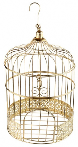 CAGE A OISEAUX OR URNE...