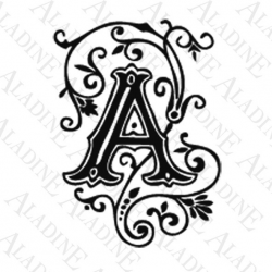 TAMPON ALPHABET ARABESQUE A
